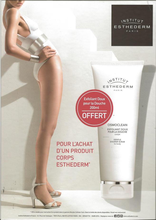 offre corps gommage offert esthederm